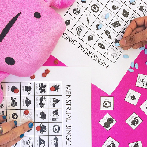 Free Menstrual Bingo game from I Heart Guts