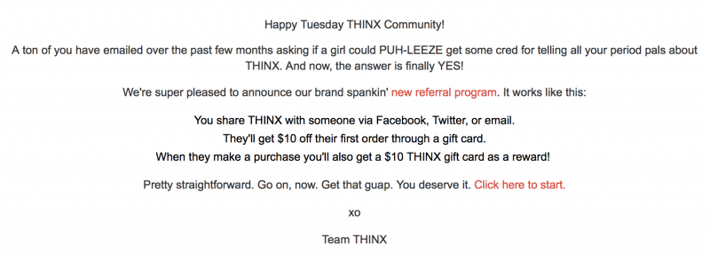 THINX Referral Nov 2016